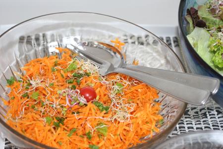 Cuisine en Alsace avec des carottes