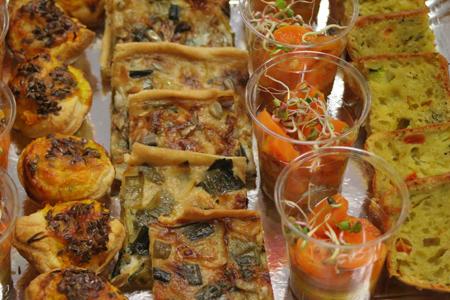 Cuisine bio avec buffet et service à domicile